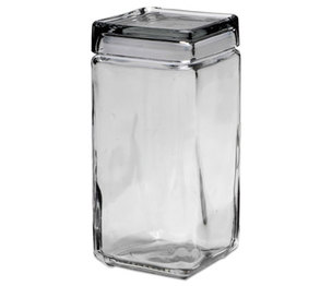 Office Settings Inc GJ02 Stackable Glass Storage Jars, 2 qt, Glass by OFFICE SETTINGS