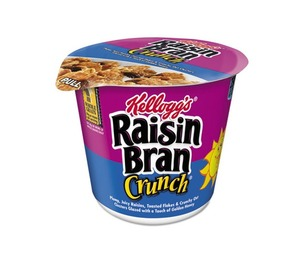 Breakfast Cereal, Raisin Bran Crunch, Single-Serve 2.8oz Cup, 6/Box by KELLOGG'S