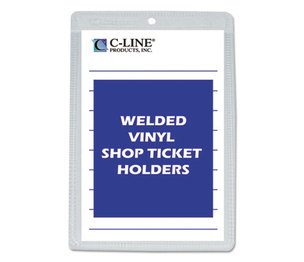 "C-Line Products, Inc 80058 Clear Vinyl Shop Ticket Holder, Both Sides Clear, 25"", 5 x 8, 50/BX by C-LINE PRODUCTS, INC"
