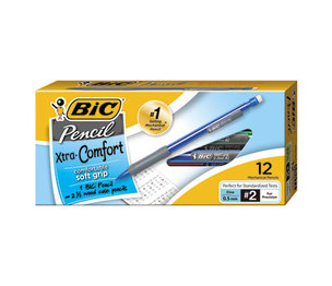 BIC MPFG11 BLK Mechanical Pencil Xtra Comfort, 0.5mm, Assorted, Dozen by BIC CORP.