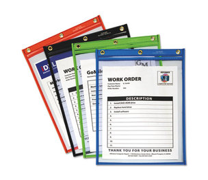 C-Line Products, Inc 50920 Heavy-Duty Super Heavyweight Plus Shop Ticket Holders, Assorted, 9 x 12, 20/BX by C-LINE PRODUCTS, INC