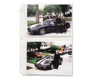 C-Line Products, Inc 52572 Clear Photo Pages for Four 5 x 7 Photos, 3-Hole Punched, 11-1/4 x 8-1/8 by C-LINE PRODUCTS, INC