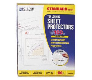 "C-Line Products, Inc 62027 Standard Weight Polypropylene Sheet Protector, Clear, 2"", 11 x 8 1/2, 100/BX by C-LINE PRODUCTS, INC"