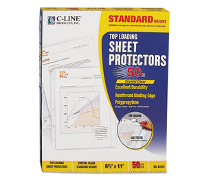 "C-Line Products, Inc 62037 Standard Weight Polypropylene Sheet Protector, Clear, 2"", 11 x 8 1/2, 50/BX by C-LINE PRODUCTS, INC"