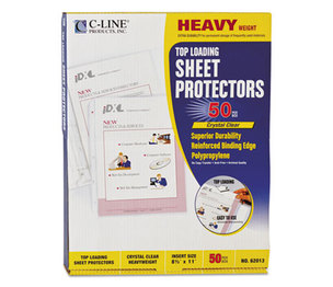 "C-Line Products, Inc 62013 Heavyweight Polypropylene Sheet Protector, Clear, 2"", 11 x 8 1/2, 50/BX by C-LINE PRODUCTS, INC"