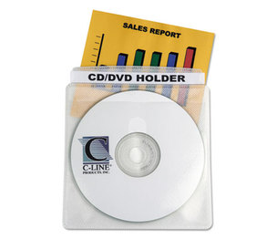 C-Line Products, Inc 61988 Deluxe Individual CD/DVD Holders, 50/BX by C-LINE PRODUCTS, INC