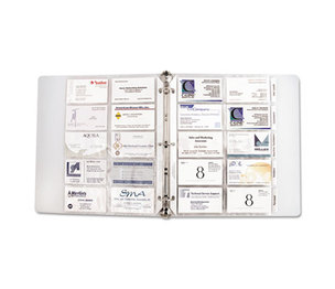 C-Line Products, Inc 61117 Tabbed Business Card Binder Pages, 20 Cards Per Letter Page, Clear, 5 Pages by C-LINE PRODUCTS, INC
