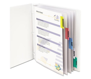 "C-Line Products, Inc 05550 Sheet Protectors with Index Tabs, Assorted Color Tabs, 2"", 11 x 8 1/2, 5/ST by C-LINE PRODUCTS, INC"