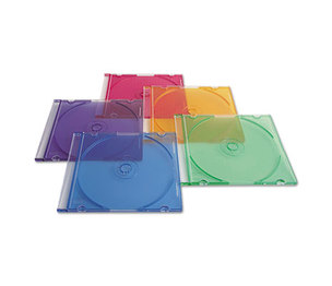 Verbatim America, LLC 94178 CD/DVD Slim Case, Assorted Colors, 50/Pack by VERBATIM CORPORATION