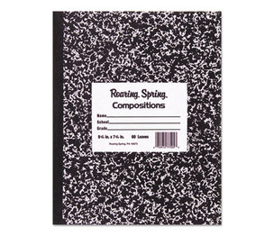 Roaring Spring Paper Products 77333 Marble Cover Composition Book, Wide Rule, 8 1/2 x 7, 48 Pages by ROARING SPRING PAPER PRODUCTS
