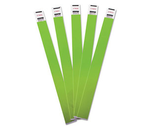Advantus Corporation 75443 Crowd Management Wristbands, Sequentially Numbered, Green, 100/Pack by ADVANTUS CORPORATION