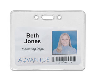 Advantus Corporation 75450 Proximity ID Badge Holder, Horizontal, 3 3/8w x 2 3/8h, Clear, 50/Pack by ADVANTUS CORPORATION