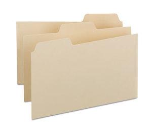 SMEAD MANUFACTURING COMPANY 57030 Self-Tab Card Guides, Blank, 1/3 Tab, Manila, 8 x 5, 100/Box by SMEAD MANUFACTURING CO.