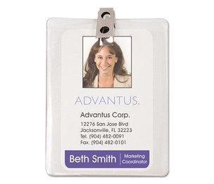 Advantus Corporation 75457 ID Badge Holder w/Clip, Vertical, 3w x 4h, Clear, 50/Pack by ADVANTUS CORPORATION