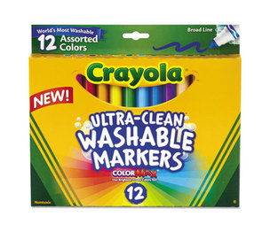 BINNEY & SMITH / CRAYOLA 587812 Washable Markers, Broad Point, Classic Colors, 12/Set by BINNEY & SMITH / CRAYOLA