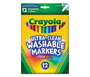 BINNEY & SMITH / CRAYOLA 587813 Washable Markers, Fine Point, Classic Colors, 12/Set by BINNEY & SMITH / CRAYOLA