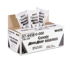 BINNEY & SMITH / CRAYOLA 574418 Model Magic Modeling Compound, 8 oz, White, 6 lbs. by BINNEY & SMITH / CRAYOLA