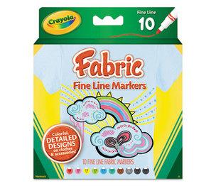 BINNEY & SMITH / CRAYOLA 588626 Fabric Markers, 10 Assorted Colors, 10/Set by BINNEY & SMITH / CRAYOLA