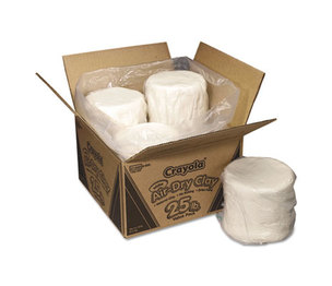 BINNEY & SMITH / CRAYOLA 575001 Air-Dry Clay, White, 25 lbs by BINNEY & SMITH / CRAYOLA