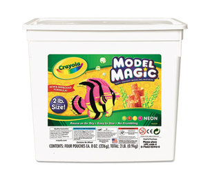 BINNEY & SMITH / CRAYOLA 232413 Model Magic Modeling Compound, 8 oz each/Neon, 2 lbs. by BINNEY & SMITH / CRAYOLA