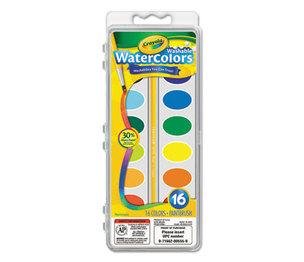 BINNEY & SMITH / CRAYOLA 530555 Washable Watercolor Paint, 16 Assorted Colors by BINNEY & SMITH / CRAYOLA