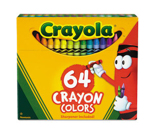 BINNEY & SMITH / CRAYOLA 52064D Classic Color Pack Crayons, Assorted 64/Box by BINNEY & SMITH / CRAYOLA