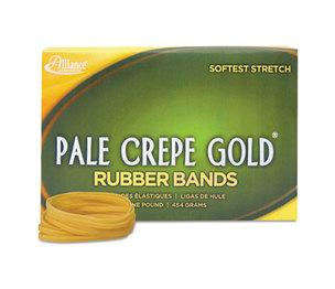 Alliance Rubber Company 20325 Pale Crepe Gold Rubber Bands, Sz. 32, 3 x 1/8, 1lb Box by ALLIANCE RUBBER