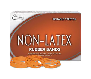 Alliance Rubber Company 37336 Non-Latex Rubber Bands, Sz. 33, Orange, 3 1/2 x 1/8, 850 Bands/1lb Box by ALLIANCE RUBBER