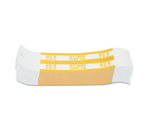 MMF INDUSTRIES 216070G12 Currency Straps, Yellow, $1,000 in $10 Bills, 1000 Bands/Pack by MMF INDUSTRIES