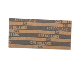 MMF INDUSTRIES 216020001 Flat Coin Wrappers, Dollar Coin, $25, Pop-Open Wrappers, 1000/Box by MMF INDUSTRIES