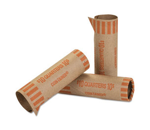 MMF INDUSTRIES 20025 Preformed Tubular Coin Wrappers, Quarters, $10, 1000 Wrappers/Box by MMF INDUSTRIES