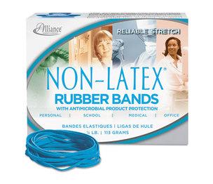 Alliance Rubber Company 42339 Antimicrobial Non-Latex Rubber Bands, Sz. 33, 3-1/2 x 1/8, .25lb Box by ALLIANCE RUBBER