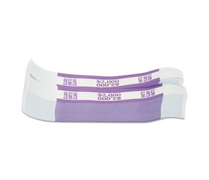 MMF INDUSTRIES 216070H19 Currency Straps, Violet, $2,000 in $20 Bills, 1000 Bands/Pack by MMF INDUSTRIES