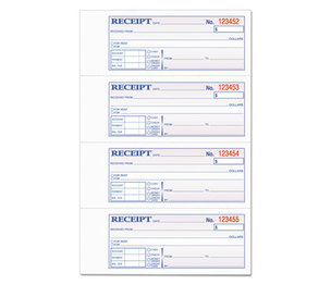 Tops Products 46816 Money and Rent Receipt Books, 2-3/4 x 7 1/8, Two-Part Carbonless, 400 Sets/Book by TOPS BUSINESS FORMS