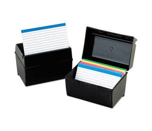 ESSELTE CORPORATION 01581 Plastic Index Card File, 500 Capacity, 8 1/4d x 2 1/8w, Black by ESSELTE PENDAFLEX CORP.