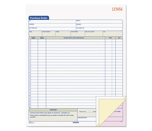 Tops Products 46147 Purchase Order Book, 8-3/8 x 10 3/16, Three-Part Carbonless, 50 Sets/Book by TOPS BUSINESS FORMS