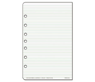 DAYTIMER'S INC. D87228B Lined Pages, 5 1/2 x 8 1/2 by DAYTIMER'S INC.
