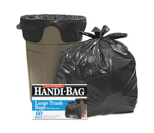 WEBSTER INDUSTRIES HAB 6FT60 Super Value Pack Trash Bags, 30gal, .65mil, 30 x 33, Black, 60/Box by WEBSTER INDUSTRIES
