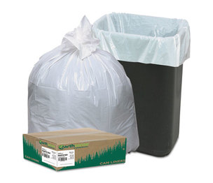 WEBSTER INDUSTRIES RNW1K150V Recycled Tall Kitchen Bags, 13-16gal, .8mil, 24 x 33, White, 150 Bags/Box by WEBSTER INDUSTRIES