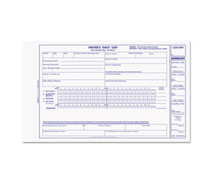 REDIFORM OFFICE PRODUCTS S5031N-CL Driver's Daily Log, 5 3/8 x 8 3/4, Carbonless Duplicate, 31 Sets/Book by REDIFORM OFFICE PRODUCTS