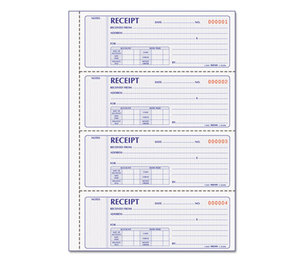 REDIFORM OFFICE PRODUCTS 8L806 Money Receipt Book, 2 3/4 x 7, Carbonless Duplicate, 200 Sets/Book by REDIFORM OFFICE PRODUCTS