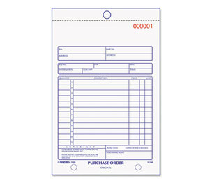 REDIFORM OFFICE PRODUCTS 1L140 Purchase Order Book, Bottom Punch, 5 1/2 x 7 7/8, Two-Part Carbonless, 50 Forms by REDIFORM OFFICE PRODUCTS