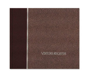 REDIFORM OFFICE PRODUCTS 57-803 Visitor Register Book, Burgundy Hardcover, 128 Pages, 8 1/2 x 9 7/8 by REDIFORM OFFICE PRODUCTS