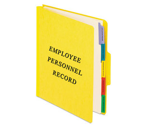 Cardinal Brands, Inc SER-1-YEL Personnel Folders, 1/3 Cut Top Tab, Letter, Yellow by ESSELTE PENDAFLEX CORP.