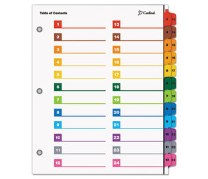 Cardinal Brands, Inc 60960 OneStep Printable Table of Contents/Dividers, 24-Tab, 11 x 8 1/2, Multicolor by CARDINAL BRANDS INC.