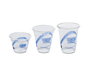 Eco-Products, Inc EP-CR9PK BlueStripe Recycled Content Clear Plastic Cold Drink Cups, 9oz, Clear, 50/Pack by ECO-PRODUCTS,INC.