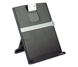 3M DH340MB Fold-Flat Freestanding Desktop Copyholder, Plastic, 150 Sheet Capacity, Black by 3M/COMMERCIAL TAPE DIV.