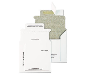 QUALITY PARK PRODUCTS E7266 Foam-Lined Multimedia Mailer, Contemporary, 5 x 5, White, 25/Box by QUALITY PARK PRODUCTS