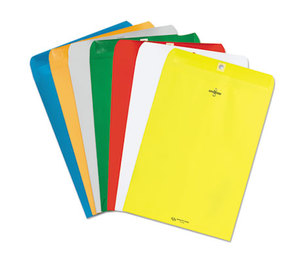 QUALITY PARK PRODUCTS 38736 Fashion Color Clasp Envelope, 9 x 12, 28lb, Yellow, 10/Pack by QUALITY PARK PRODUCTS