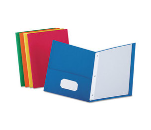 "ESSELTE CORPORATION 57713 Twin-Pocket Folders with 3 Fasteners, Letter, 1/2"" Capacity, Assorted, 25/Box by ESSELTE PENDAFLEX CORP."